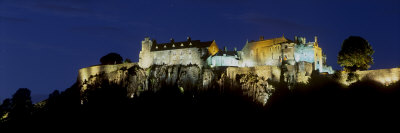 Stirling Castle at Night, Atop Castle Hill, from the Southwest, Stirling, Scotland, United Kingdom