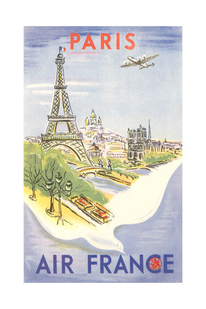 Paris - Air France Poster Posters