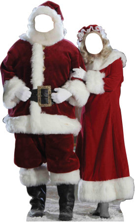 Santa & Mrs. Claus Stand In