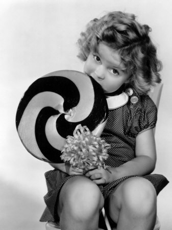 Bright Eyes, Shirley Temple Eating a Big Lollipop, 1934