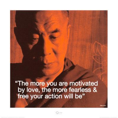 Dalai Lama: Fearless & Free Art Print