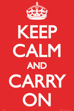 Keep Calm and Carry On (Motivational, Red),