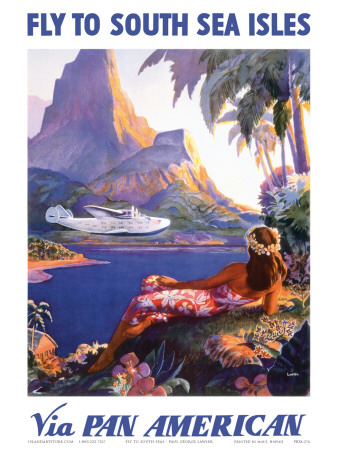 Fly to the South Seas Isles, via Pan American Airways, c.1940s Art Print