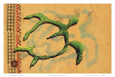 Hilihili Honu, Green Sea Turtle, Hawaiian Petroglyph