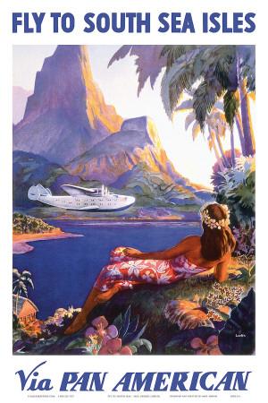 Fly to the South Seas Isles, via Pan American Airways, c.1940s Art Print