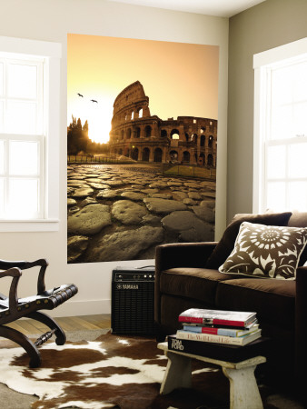 Colosseum and Via Sacra, Sunrise, Rome, Italy Posters