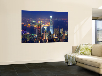 Victoria Harbour and Skyline from the Peak, Hong Kong, China Posters