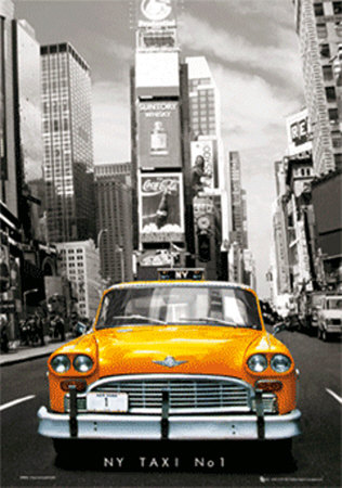 New York Taxi No. 1 3 Dimensional Poster