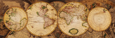 Map of the World: Nova Totius Terrarum Orbis Art Print