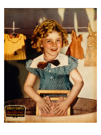 Our Little Girl, Shirley Temple, 1935, Washing Doll Clothes