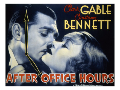 After Office Hours, Clark Gable, Constance Bennett, 1935