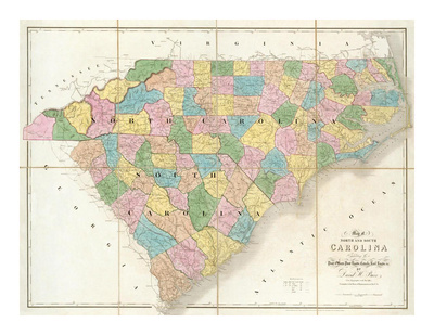 Map of North and South Carolina available by clicking on the image.