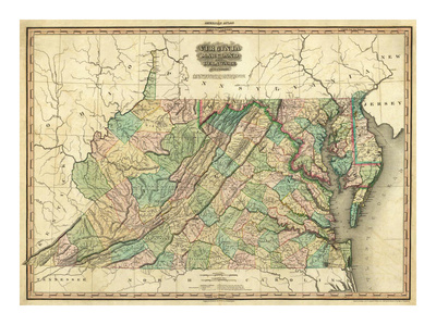 Virginia, Maryland and Delaware. c 1823.
