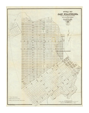 Map of San Francisco 1851.