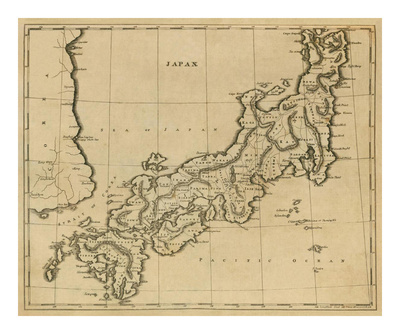 Map of Japan by Aaron Arrowsmith c. 1812.