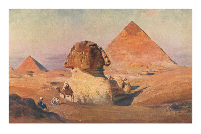 Sphinx, Pyramids and Camel