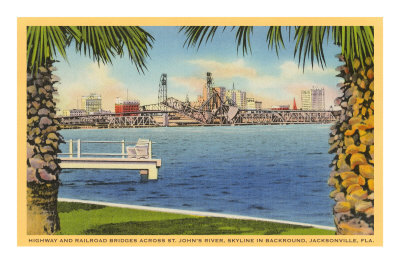 Bridge and City View, Jacksonville, Florida