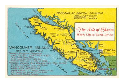 Karte von Vancouver Island, British ...