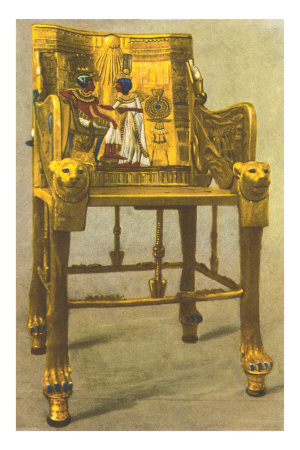 Gold Chair from King Tut Tomb, Egypt