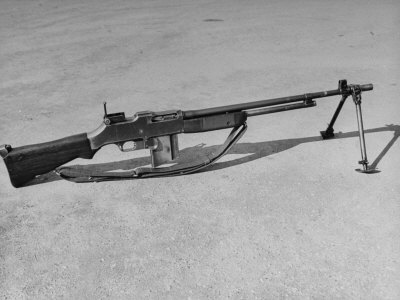 Side View of Browning Automatic Rifle