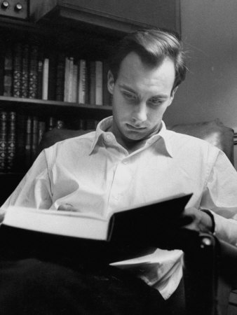 Aga Khan Reading a Book