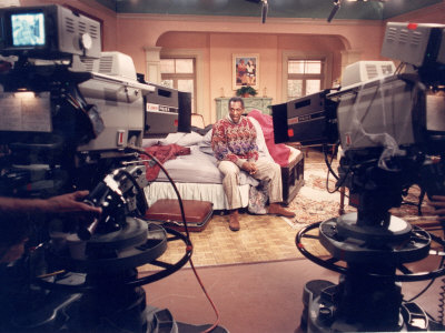 Comedian Bill Cosby Filming His TV Show