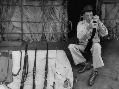 Film Director John Huston, Playing ...
