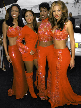 Musical Group Destiny's Child, All Wearing Red Outfits, at Soul Train Music Awards - Buy this premium photographic print at AllPosters.com