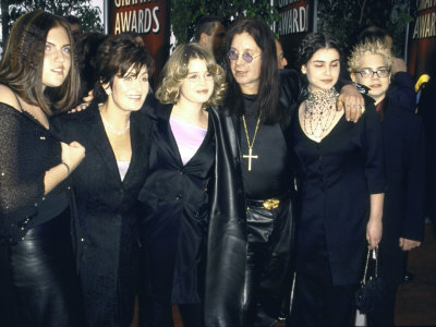 Musician Ozzy Osbourne and Family  Incl  Wife Sharon  Daughter Kelly    Ozzy And Sharon Osbourne Kids