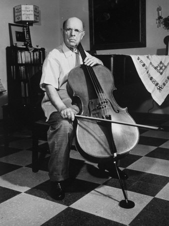 Cellist Pablo Casals at His Home - Buy this premium photographic print at AllPosters.com