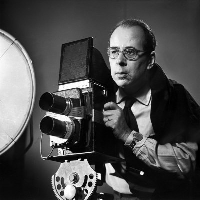 Portrait of Life Photographer Philippe Halsman at Work