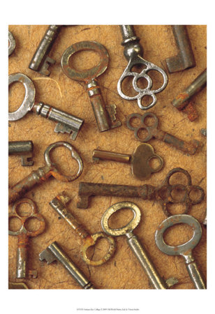 Antique Key Collage
