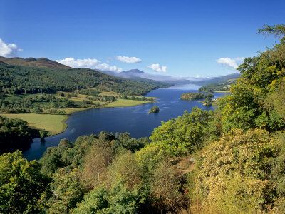Queen's View, Famous Viewpoint over Loch Tummel, Near Pitlochry, Perth and Kinross, Scotland
