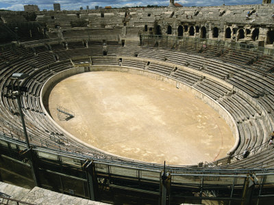 Roman Amphitheatre in Nimes in the ...