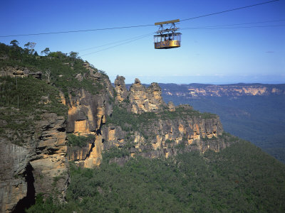 Scenic Skyway Above the Three Sisters at Katoomba, Blue Mountains, New South Wales, Australia