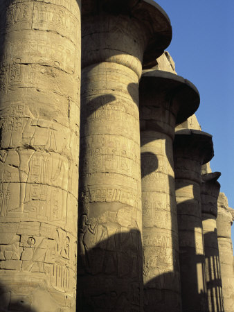 Hypostyle Hall, Great Temple of Amun, Karnak, Thebes, UNESCO World Heritage Site, Egypt Posters