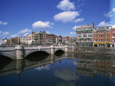 O'Connell Bridge over the River Liffey, Dublin, County Dublin, Republic of Ireland, Europe