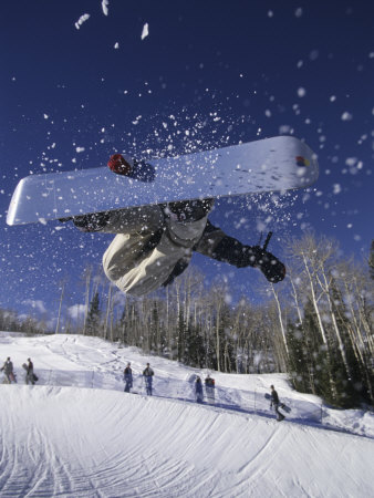 Blurred Action of Snowboarder ...