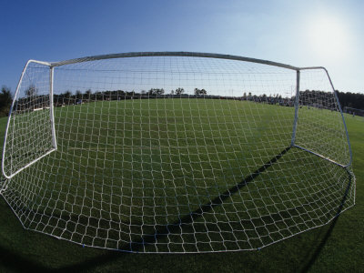 Buy View of Soccer Field Through Goal at AllPosters.com