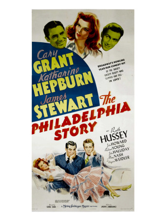 The Philadelphia Story, Cary Grant, Katharine Hepburn, James Stewart, 1940