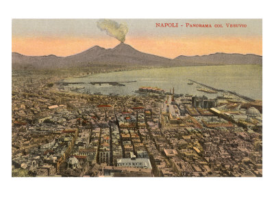 View of Mt. Vesuvius, Naples, Italy