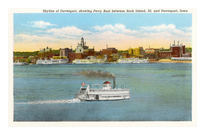 Skyline of Davenport, Iowa