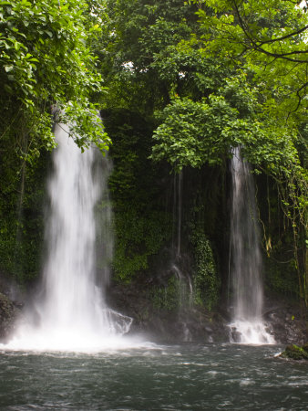 Double Waterfall on Bioko Island