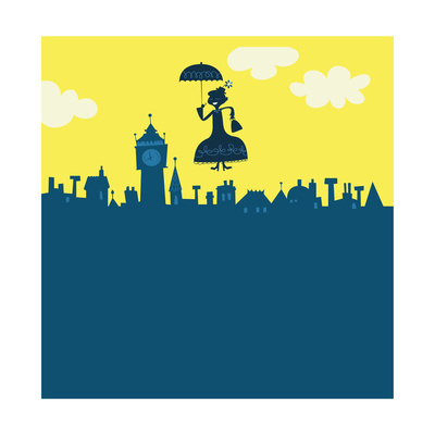 Mary Poppins in Sky Posters