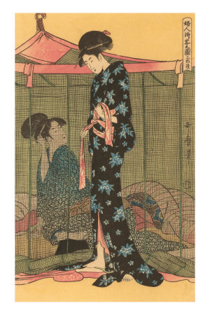 Japanese Woodblock, Geishas