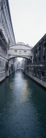 Bridge across the Canal, Bridge of Sighs, Rio Di Palazzo, Venice, Veneto, Italy