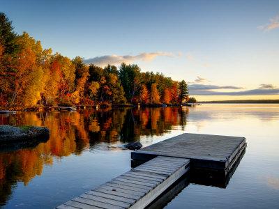 Maine, Baxter State Park, Lake ...