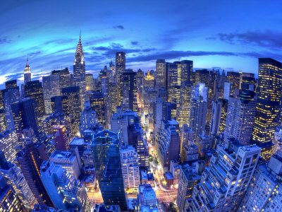 Chrysler Building and Midtown Manhattan Skyline, New York City, USA