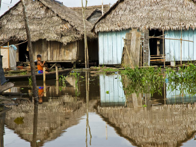 Amazon, Amazon River, the Floating Village of Belen, Iquitos, Peru