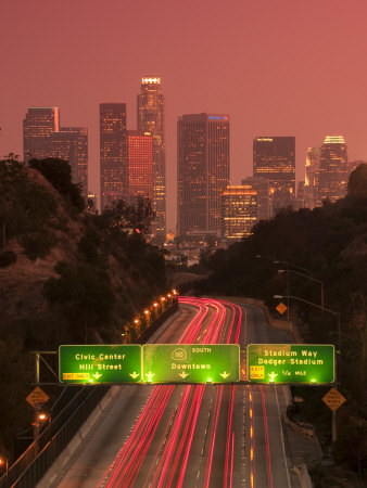 California, Los Angeles, Route 110, USA